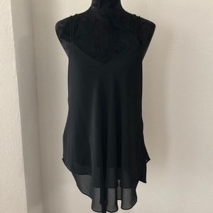 Black spaghetti strap layered cami